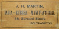 Martins Rubber product label from the Victorian era