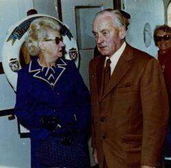 Bert & Nita Campbell on board the RMS Windsor Castle